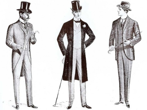 Edwardian men's coats