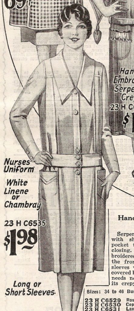 1920s nurse's unifroms