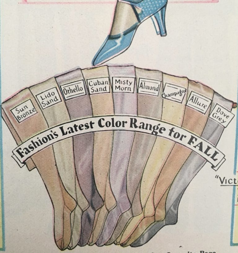 Vintage stocking colors