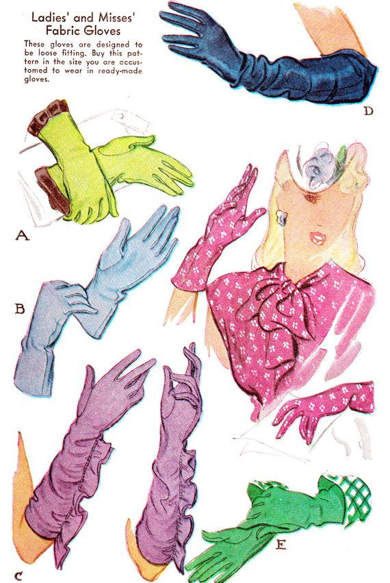 Vintage gloves designs