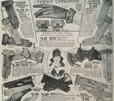 Gloves of 1900s-1910s