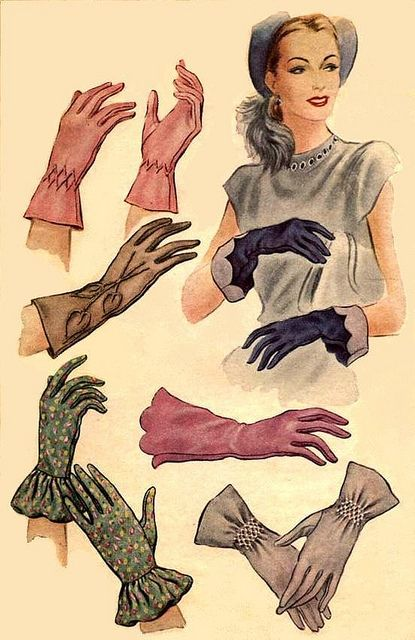 Vintage women gloves