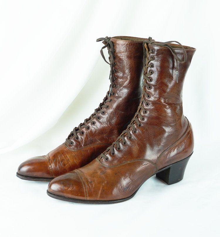 Edwardian Leather Boots