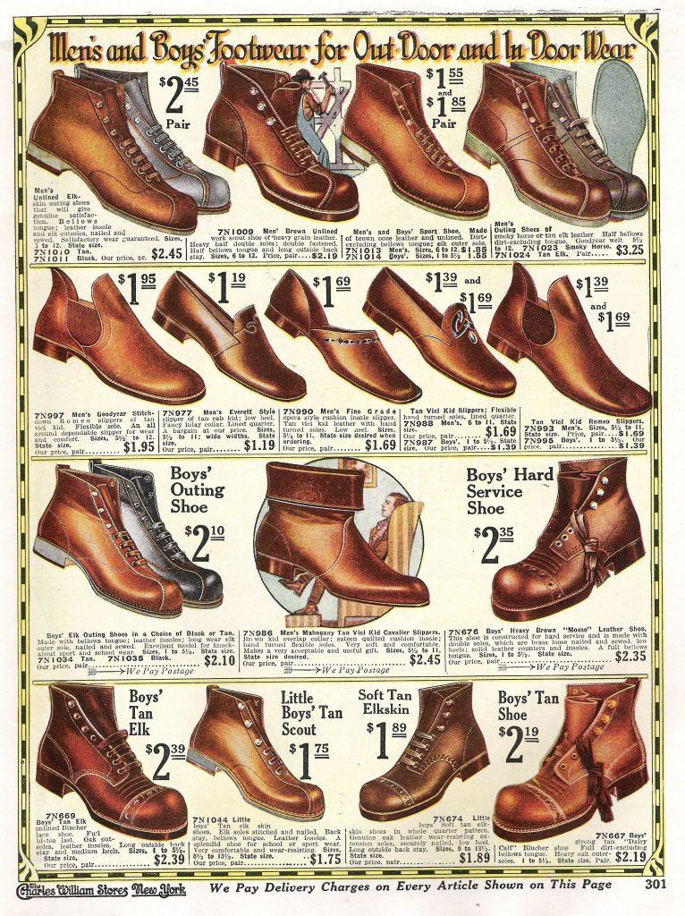 Edwardian men's shoes