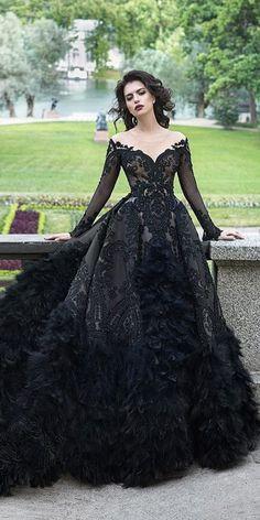 Modern Victorian Black Dress