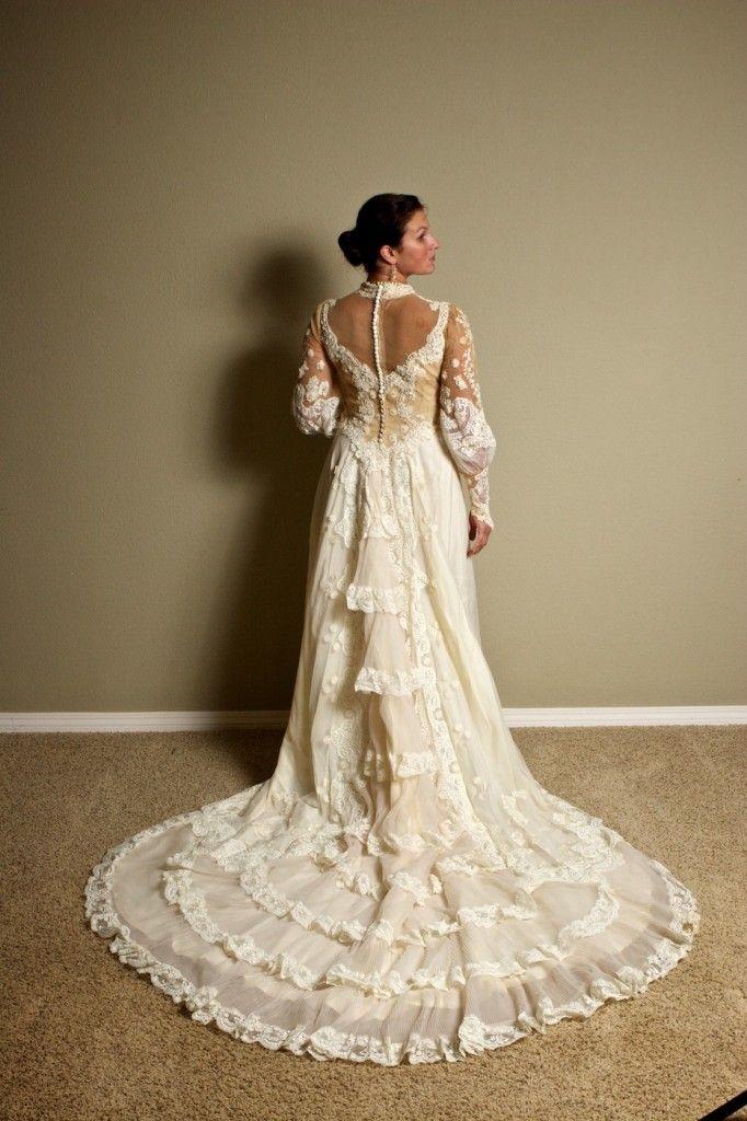 Modern Victorian Wedding Gown