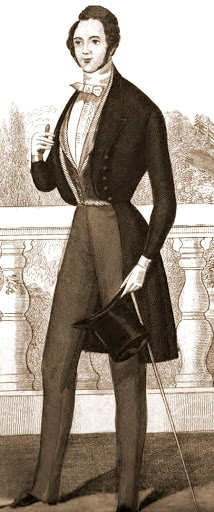 Victorian men's fashion 1840s