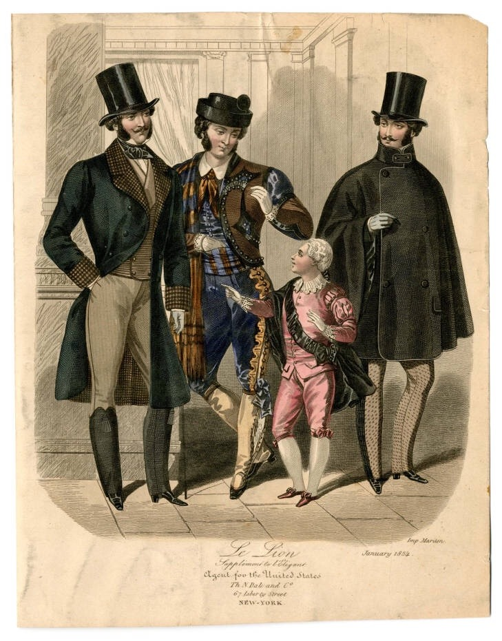 Victorian Men's Fashion 1850s
