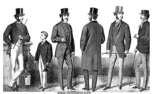 1860s Victorian men's fashion