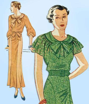 1930s afternoon dress