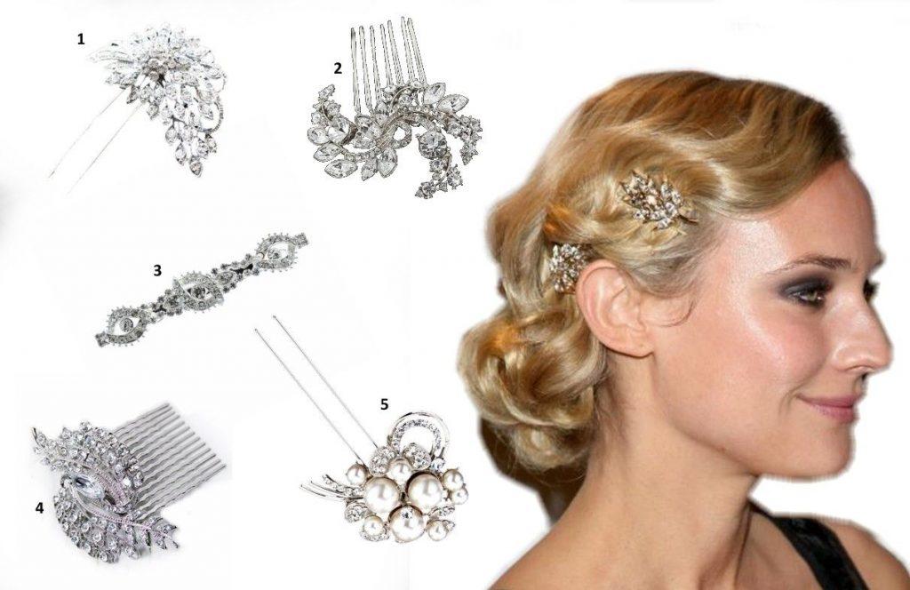 vintage hair clips