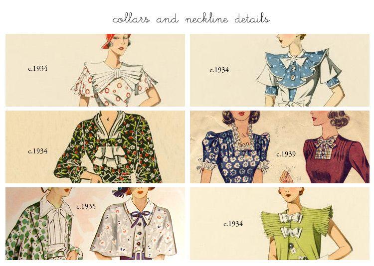 1930s Necklines