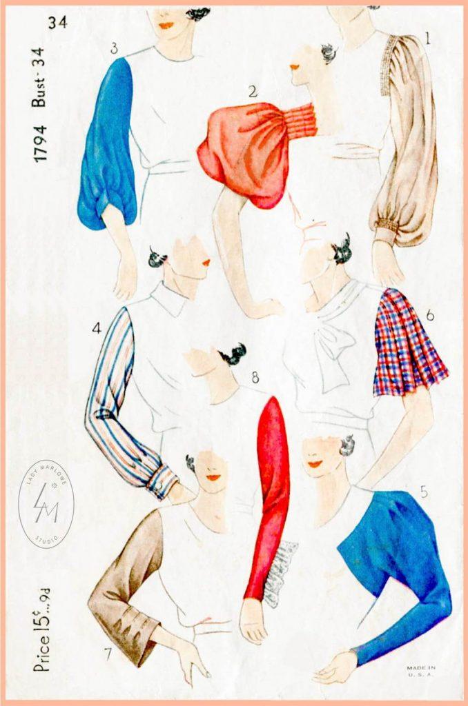 1930s sleeves
